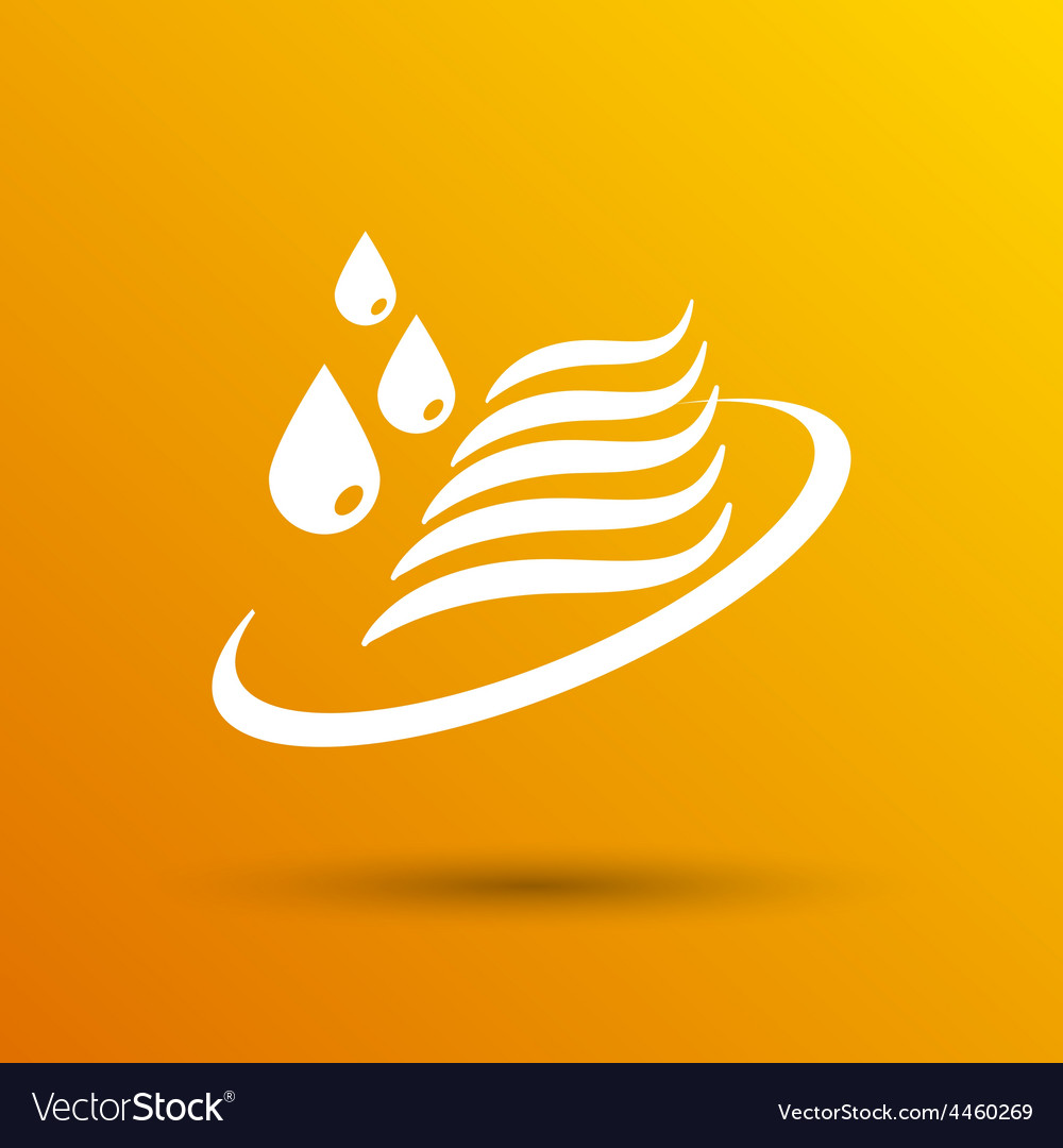 Abstract symbol of a water icon drop wave sign vector | Price: 1 Credit (USD $1)