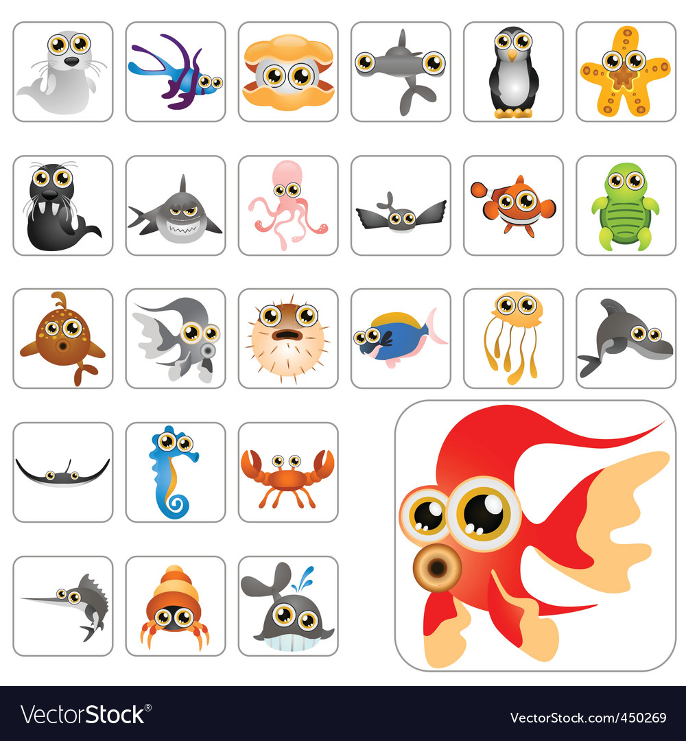 Cartoon animals vector | Price: 3 Credit (USD $3)