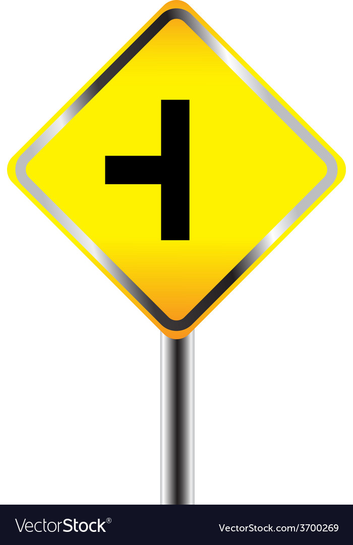 Caution sign road vector | Price: 1 Credit (USD $1)