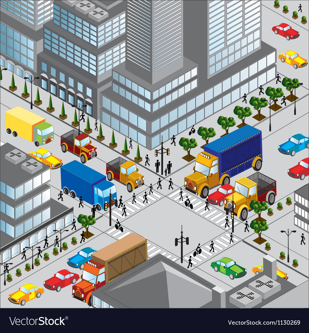 Crossing of city vector | Price: 1 Credit (USD $1)
