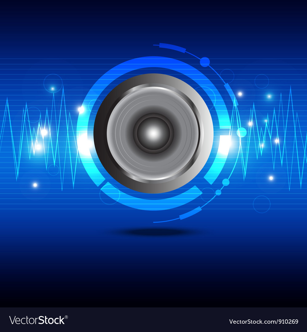 Digital sound wave from speaker vector | Price: 1 Credit (USD $1)