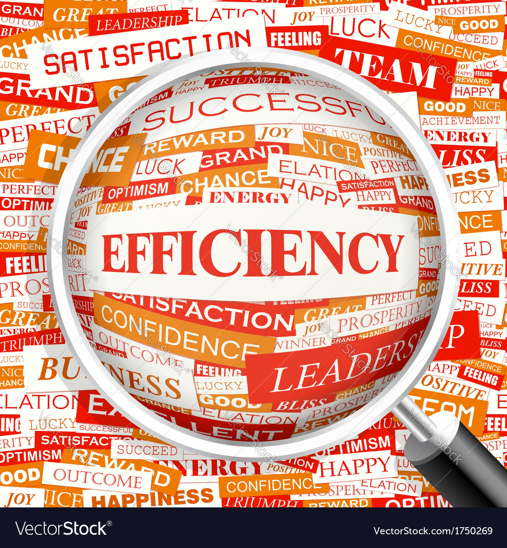 Efficiency vector | Price: 1 Credit (USD $1)