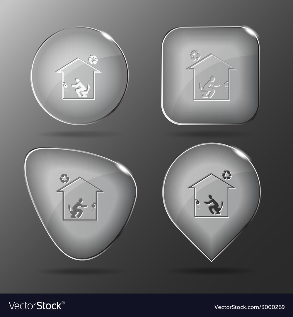 Home toilet glass buttons vector | Price: 1 Credit (USD $1)