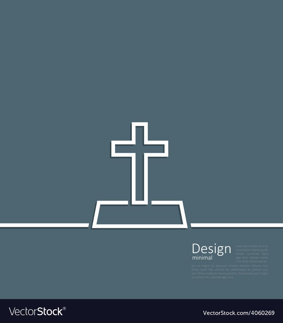 Logo of gravestone in minimal flat style line vector | Price: 1 Credit (USD $1)