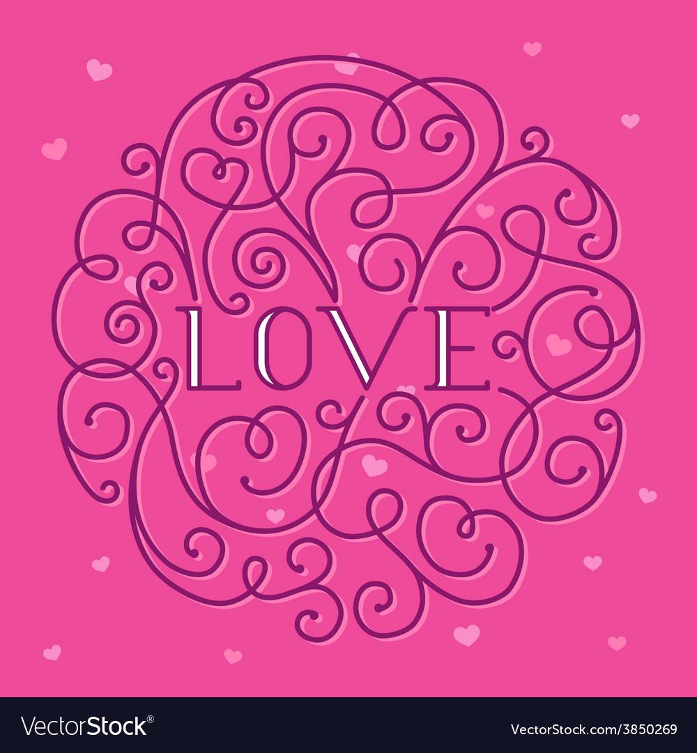 Love lettering vector | Price: 1 Credit (USD $1)