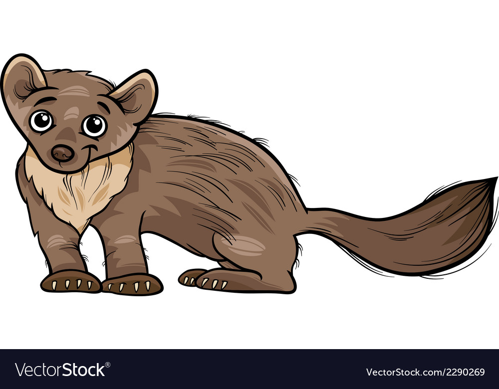 Marten animal cartoon vector | Price: 1 Credit (USD $1)