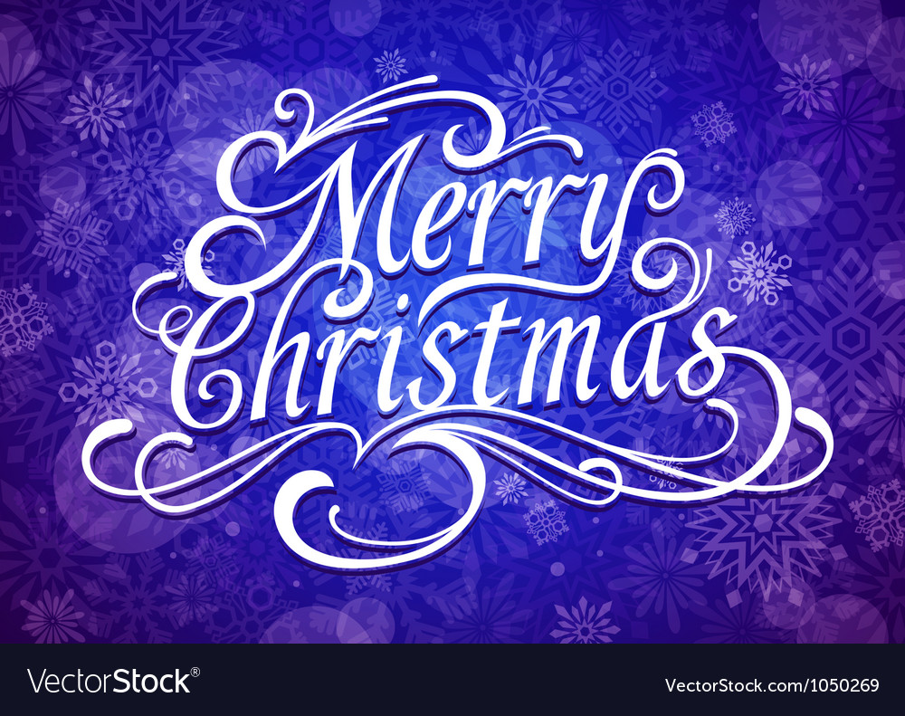 Merry christmas calligraphic lettering vector | Price: 1 Credit (USD $1)