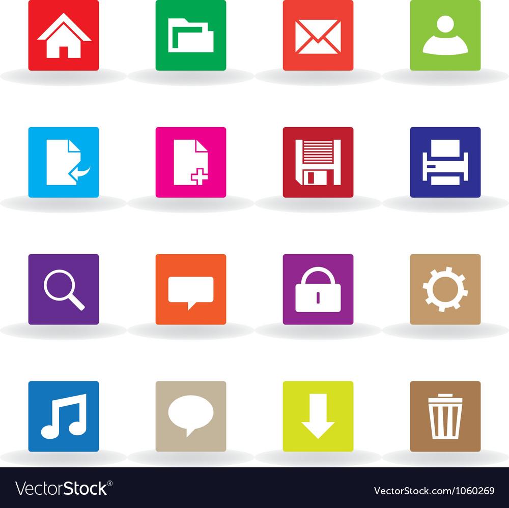 Multicolor web icons vector   Price: 1 Credit (USD $1)