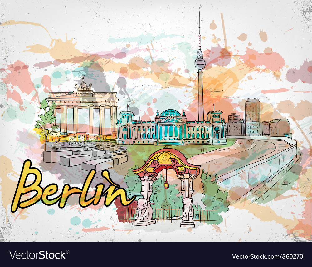 Berlin doodles vector | Price: 3 Credit (USD $3)