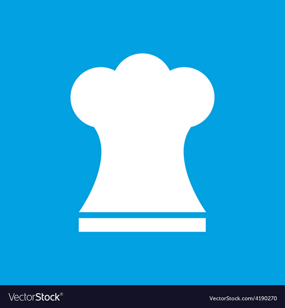 Chef white icon vector | Price: 1 Credit (USD $1)