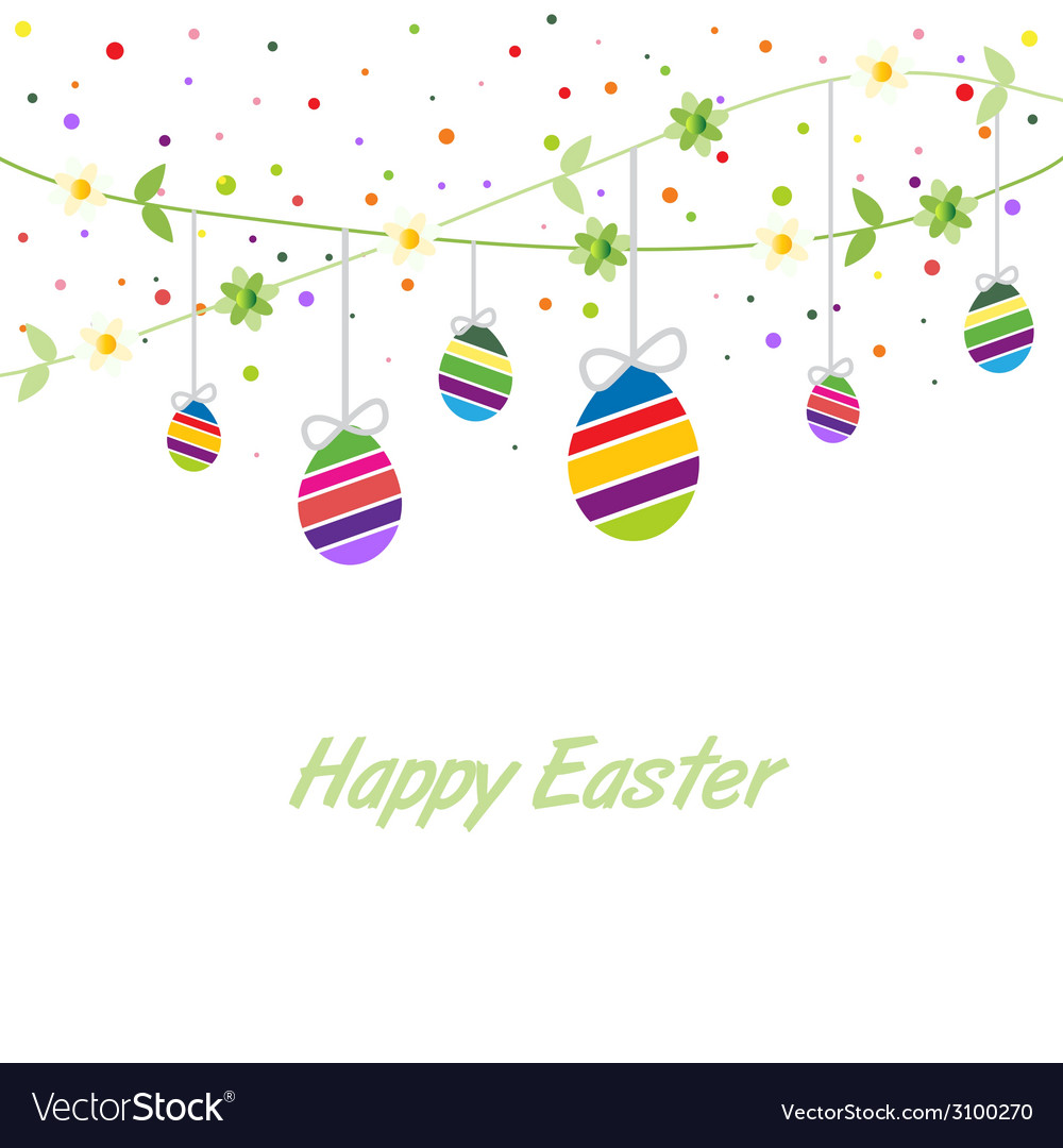 Easter spring card vector | Price: 1 Credit (USD $1)