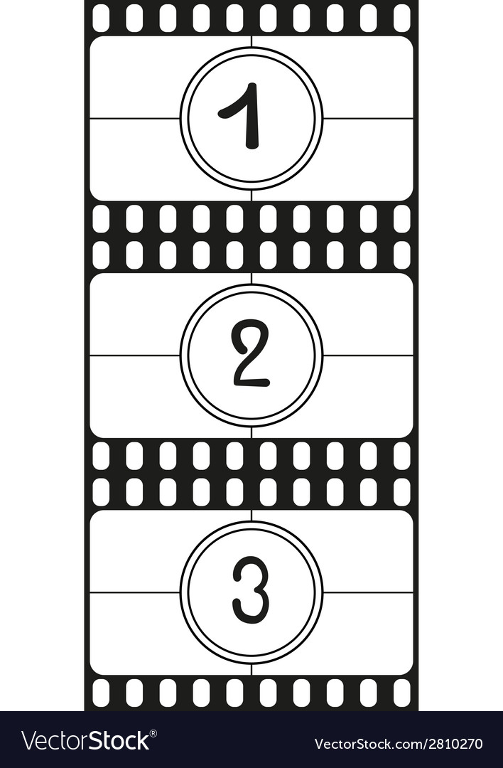 Film countdown numbers part 1 vector | Price: 1 Credit (USD $1)