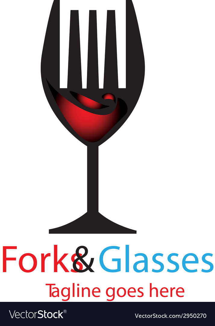 Forks glasses vector | Price: 1 Credit (USD $1)