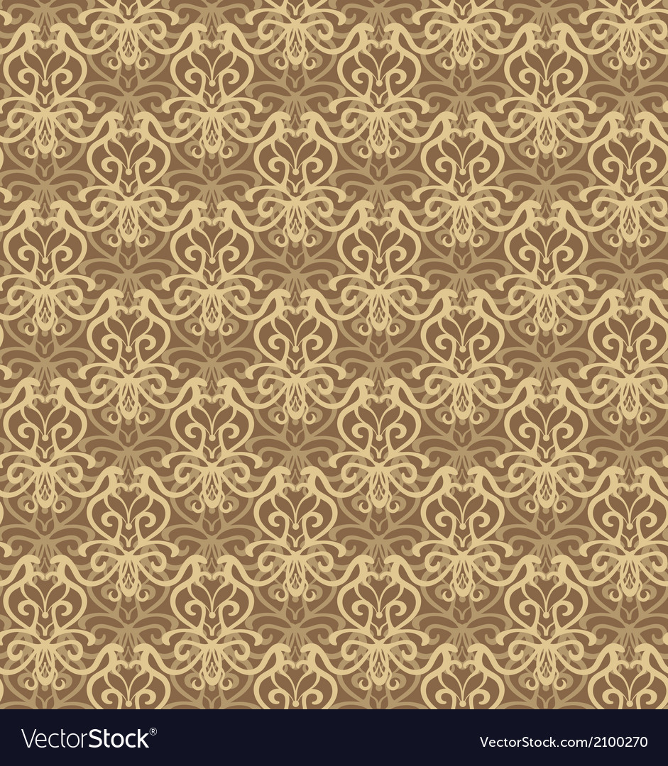 Intricate beige and brown luxury seamless pattern vector | Price: 1 Credit (USD $1)