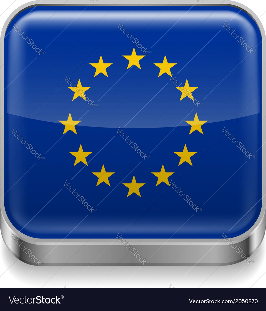 Metal icon of eu vector | Price: 1 Credit (USD $1)