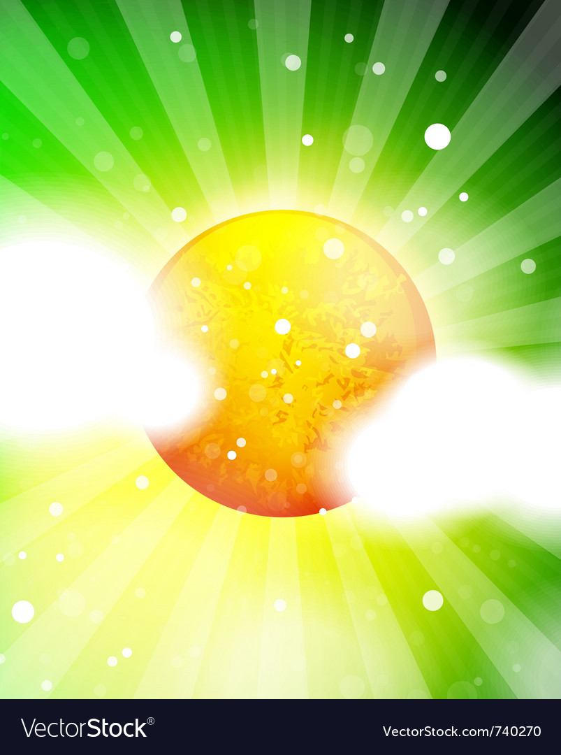 Nature sky shiny background with sun vector | Price: 1 Credit (USD $1)