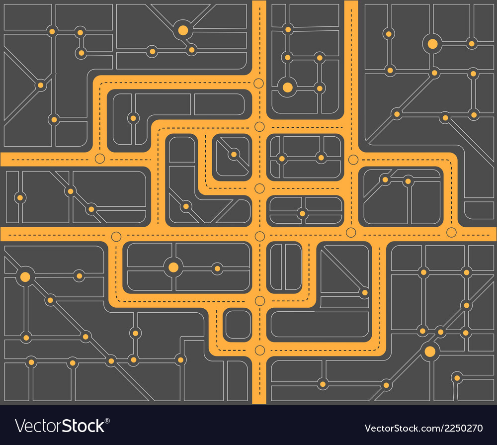 Plan streets vector | Price: 1 Credit (USD $1)