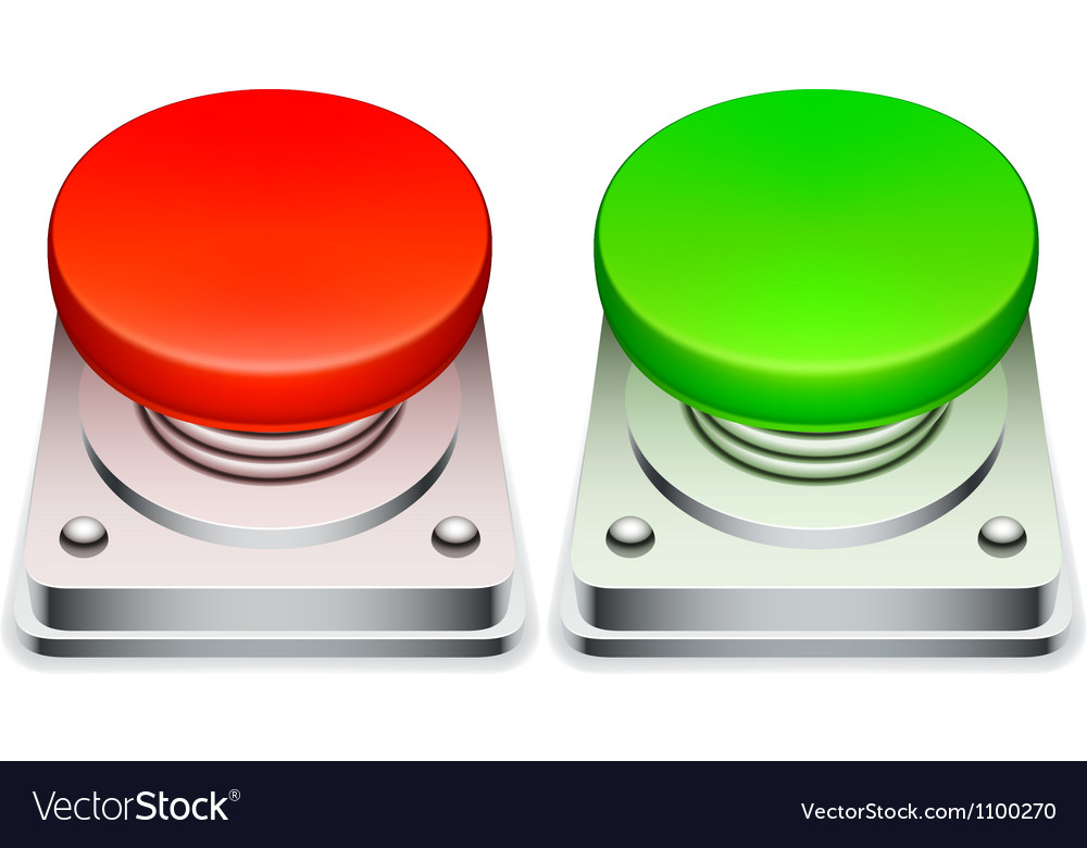 Red and green buttons vector | Price: 3 Credit (USD $3)