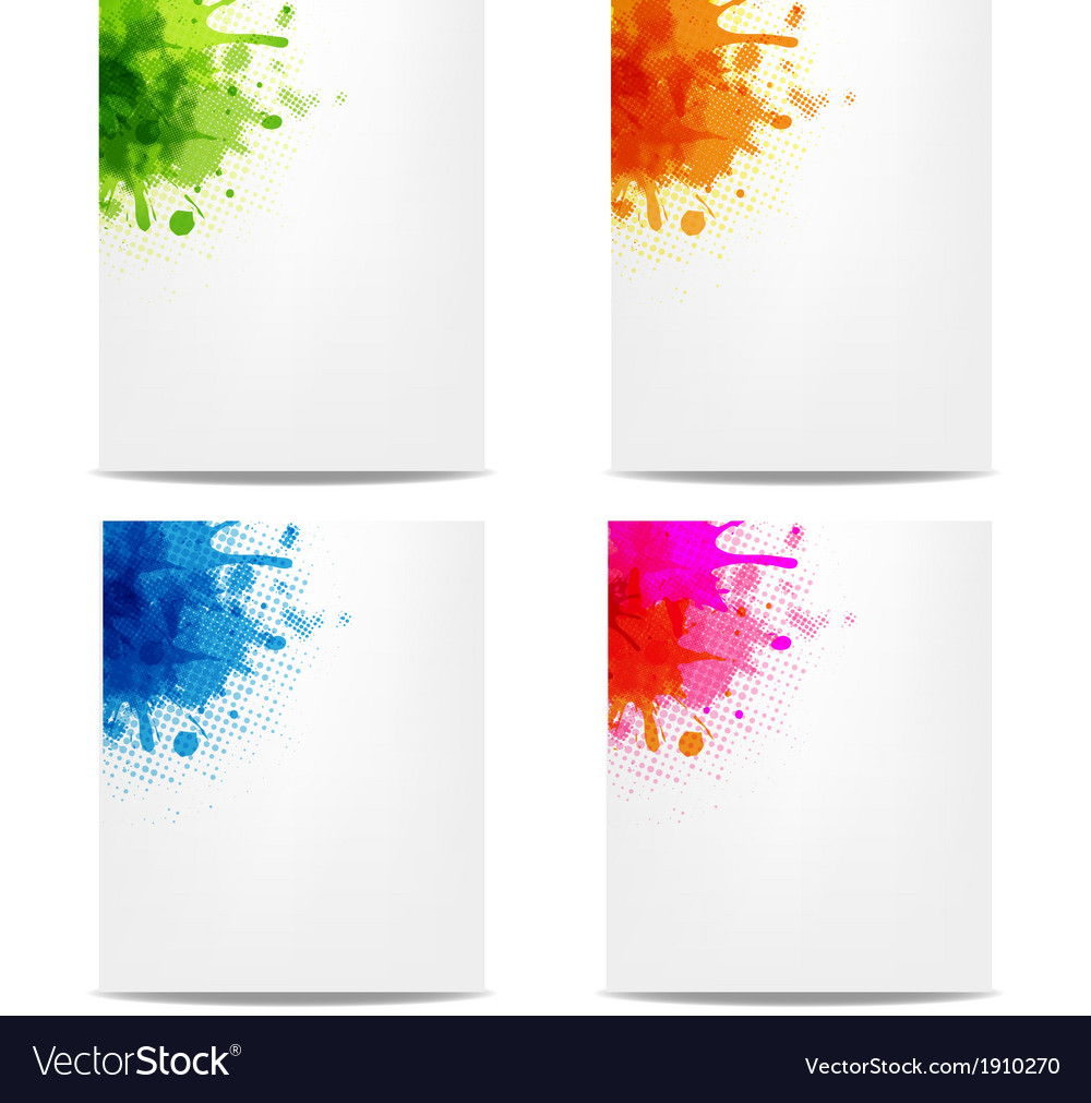Set banners with color blob vector | Price: 1 Credit (USD $1)