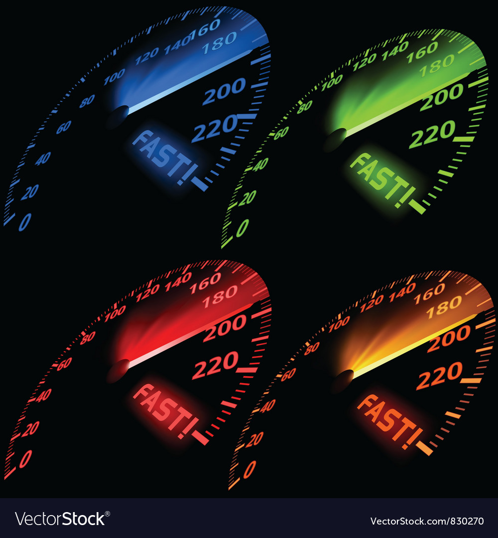Speedometer set vector | Price: 1 Credit (USD $1)