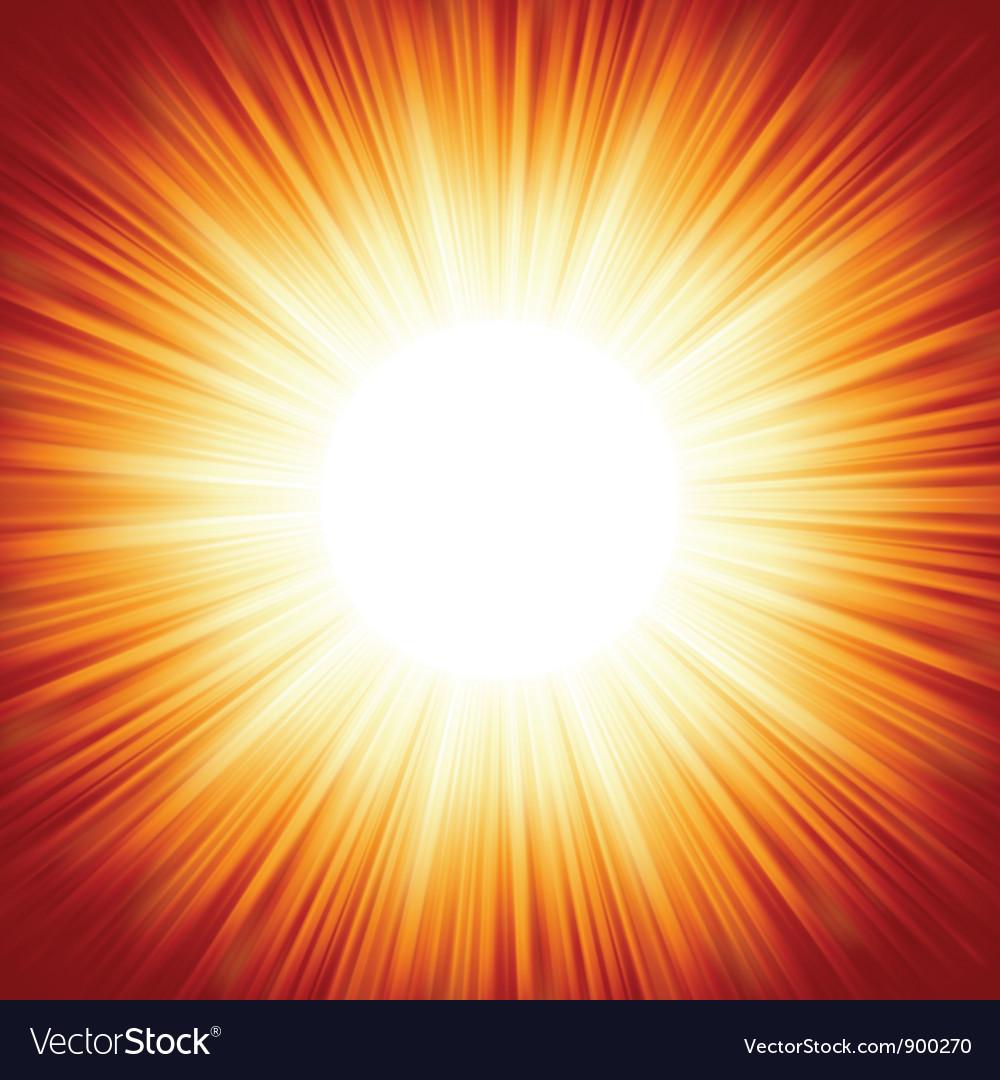 Summer sun light burst vector | Price: 1 Credit (USD $1)