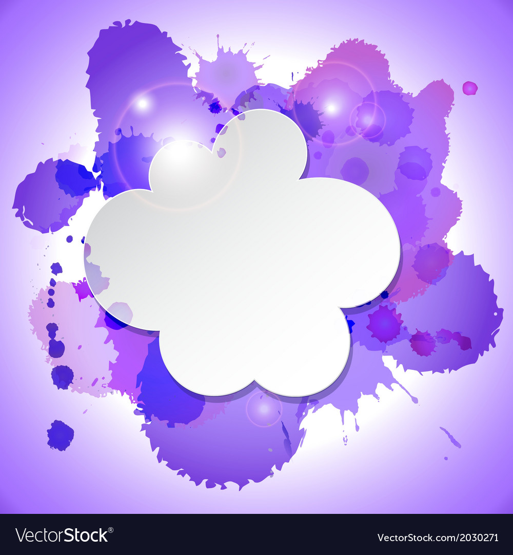 Abstract speech bubble cloud with blots and lights vector | Price: 1 Credit (USD $1)