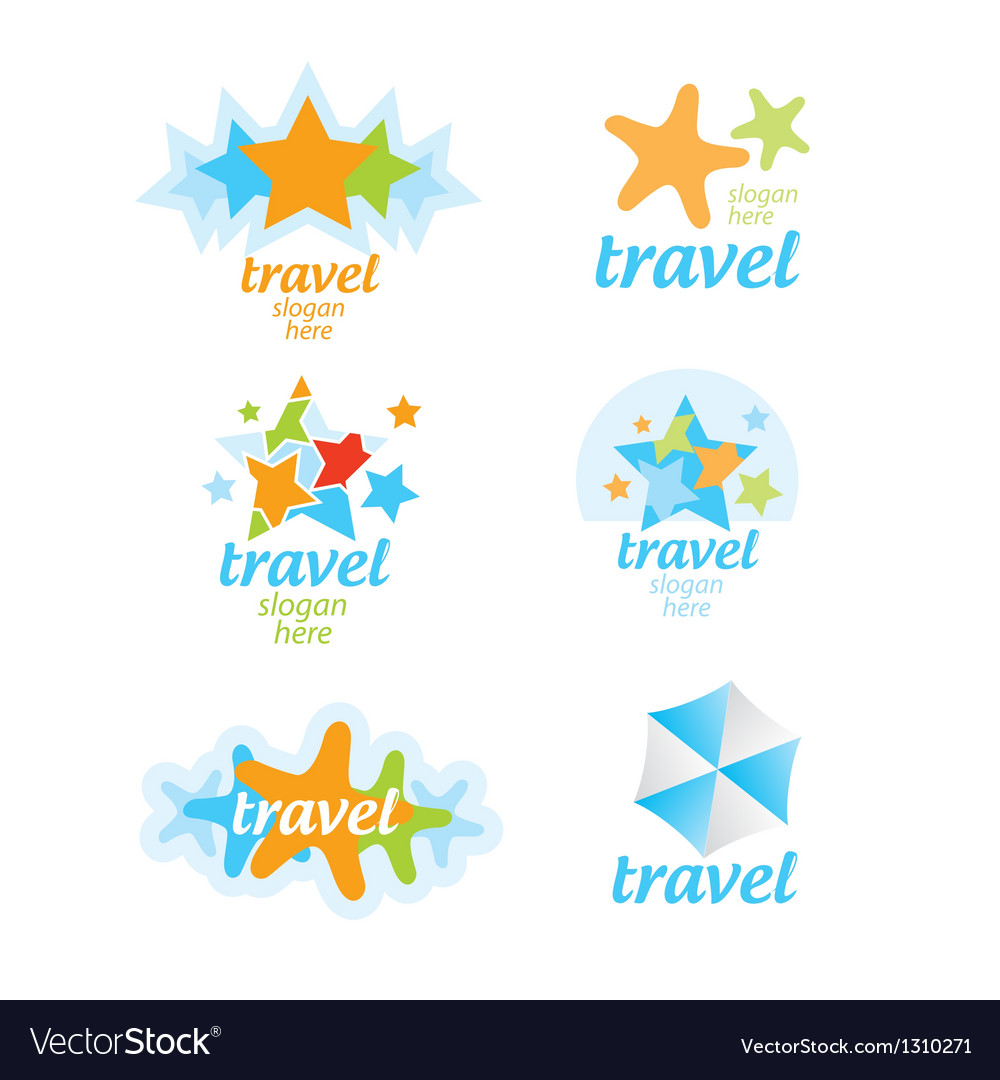 Collection of logos for the travel and tourism vector | Price: 1 Credit (USD $1)