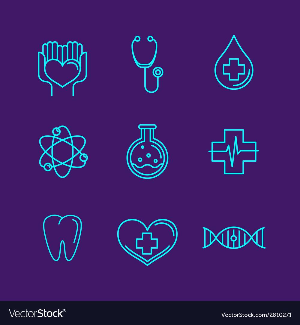 Medicine logos vector | Price: 1 Credit (USD $1)