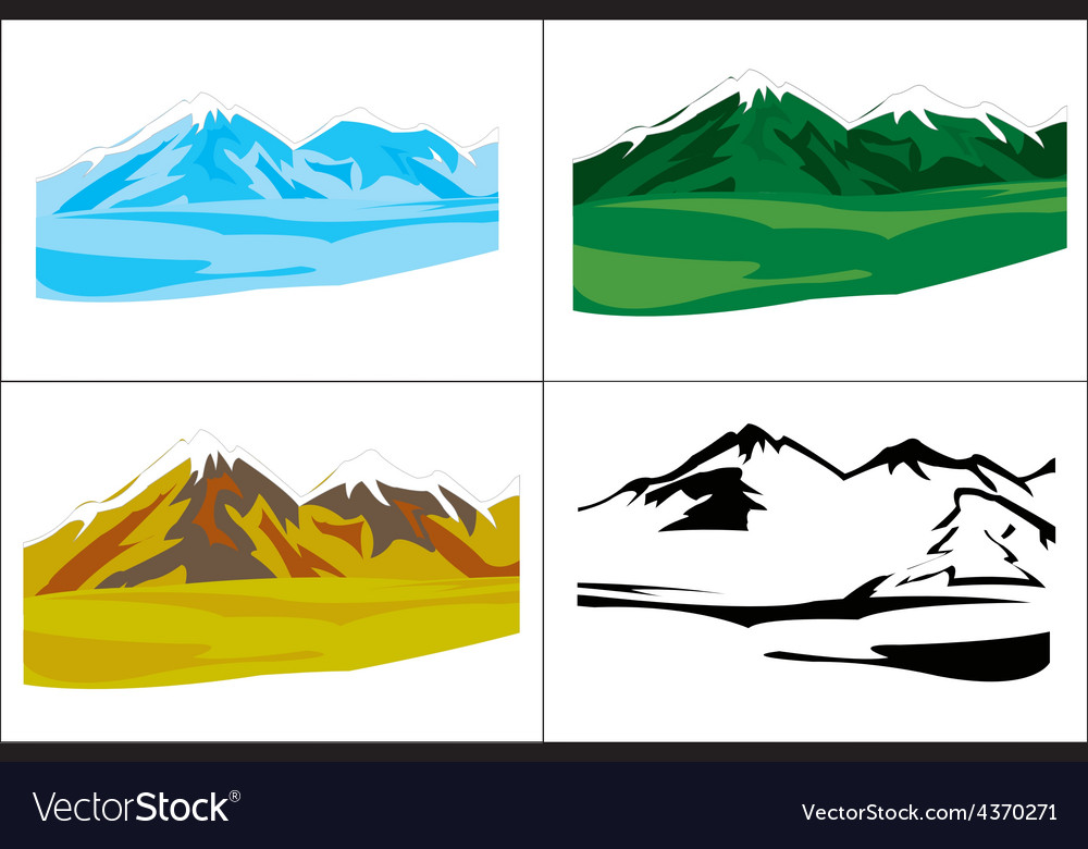 Selection of the landscapes with mountain vector   Price: 1 Credit (USD $1)