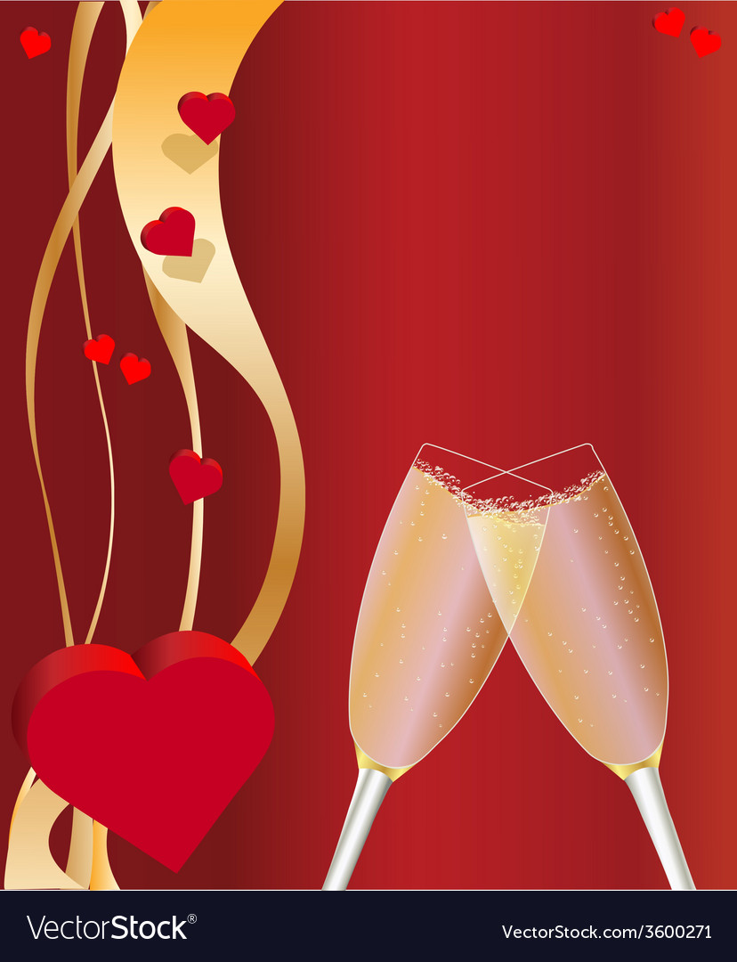 Valentines day card red vector | Price: 1 Credit (USD $1)