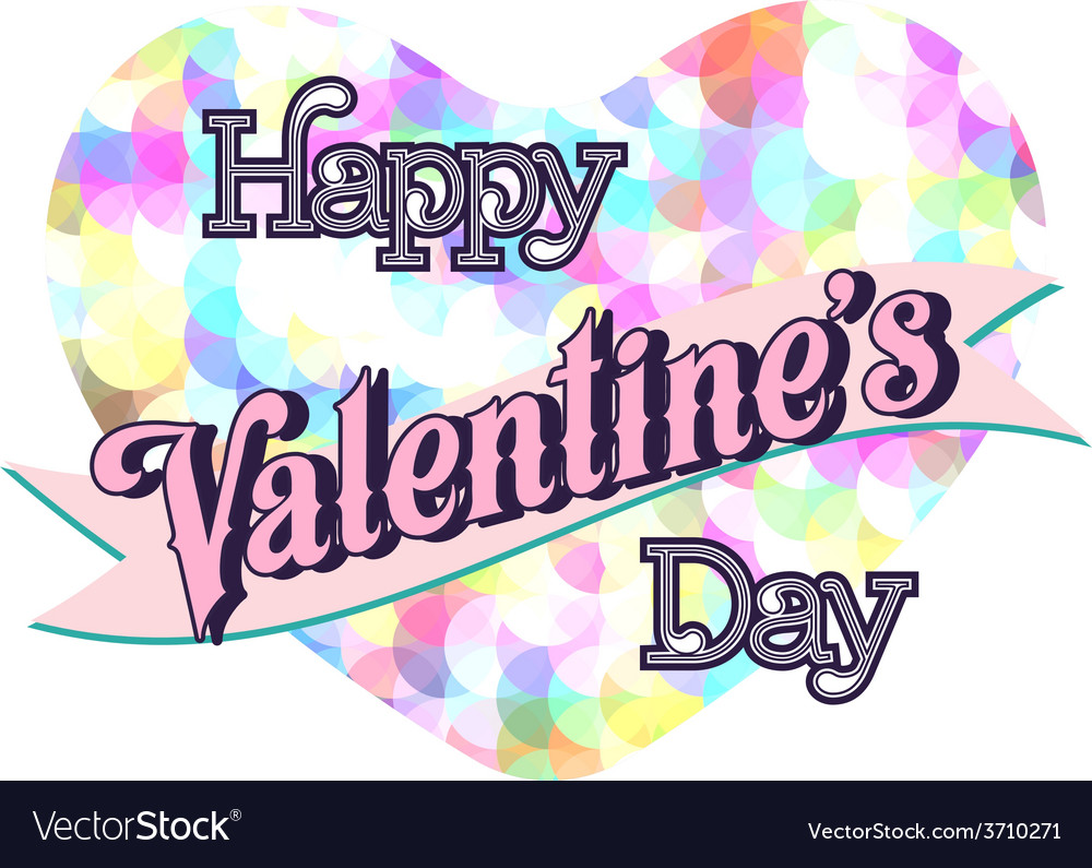 Valentines day lettering card vector   Price: 1 Credit (USD $1)
