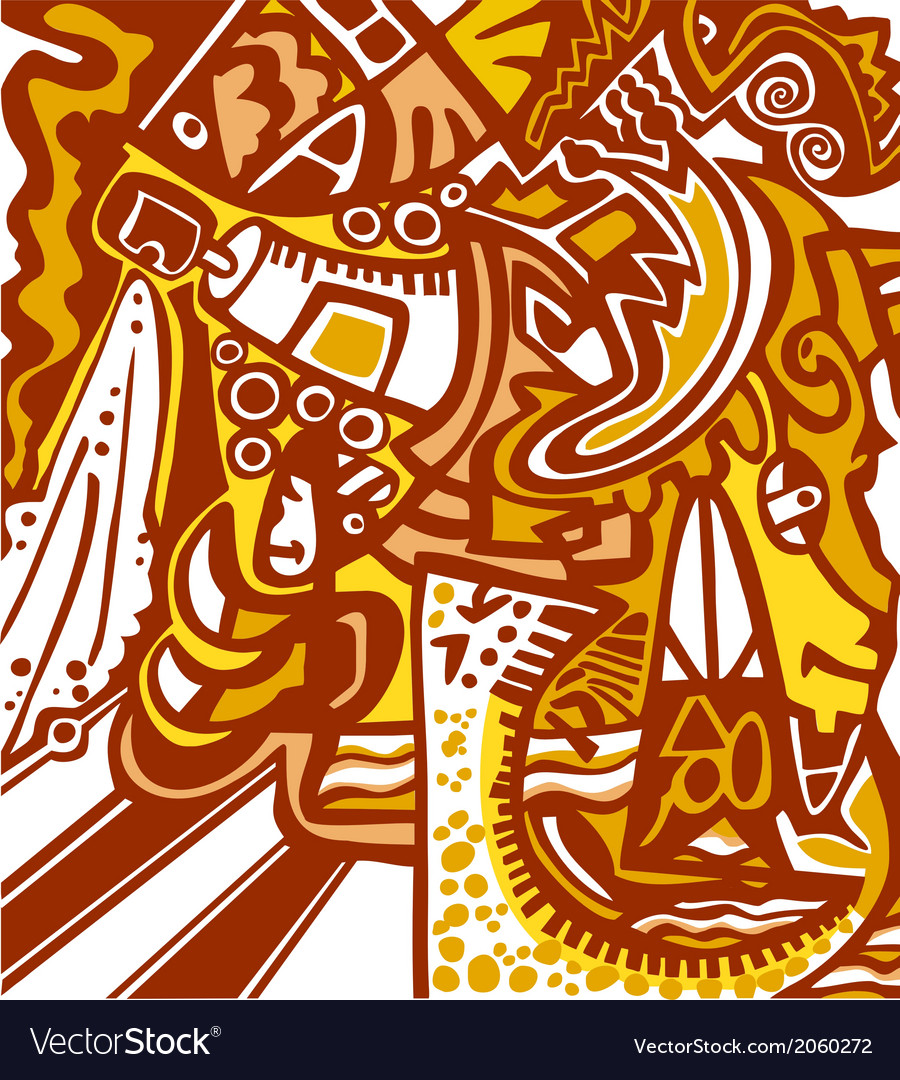 Abstract design in graffiti style vector | Price: 1 Credit (USD $1)