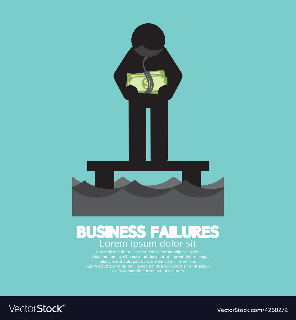 Banknote hang on mans neck business failures vector | Price: 1 Credit (USD $1)