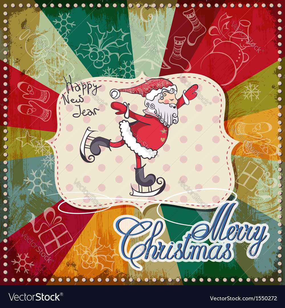Christmas card merry christmas lettering eps10 vector | Price: 1 Credit (USD $1)