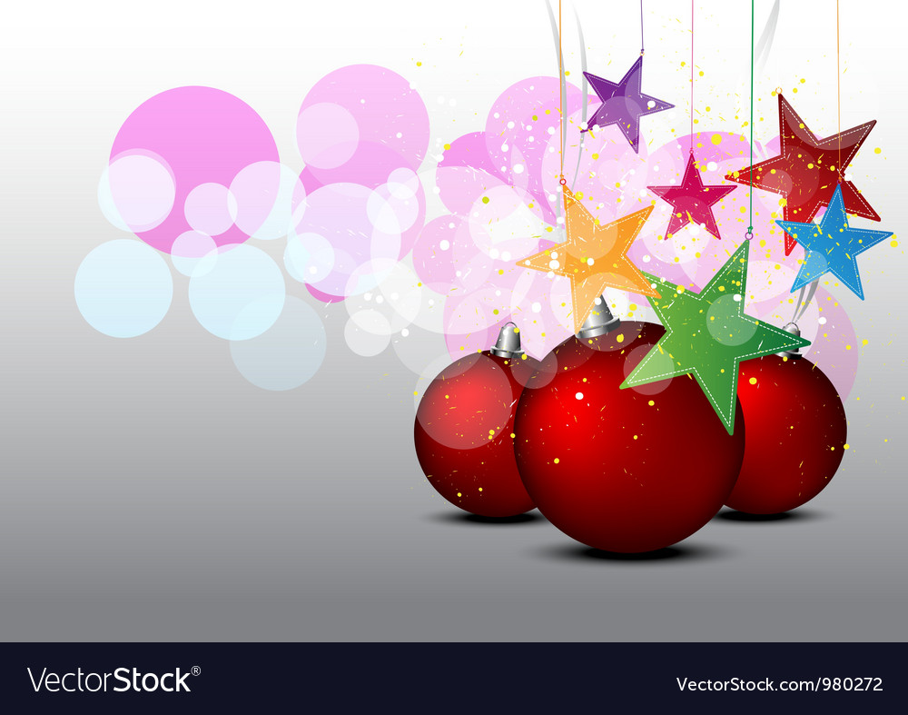 Christmas decorative background vector | Price: 1 Credit (USD $1)