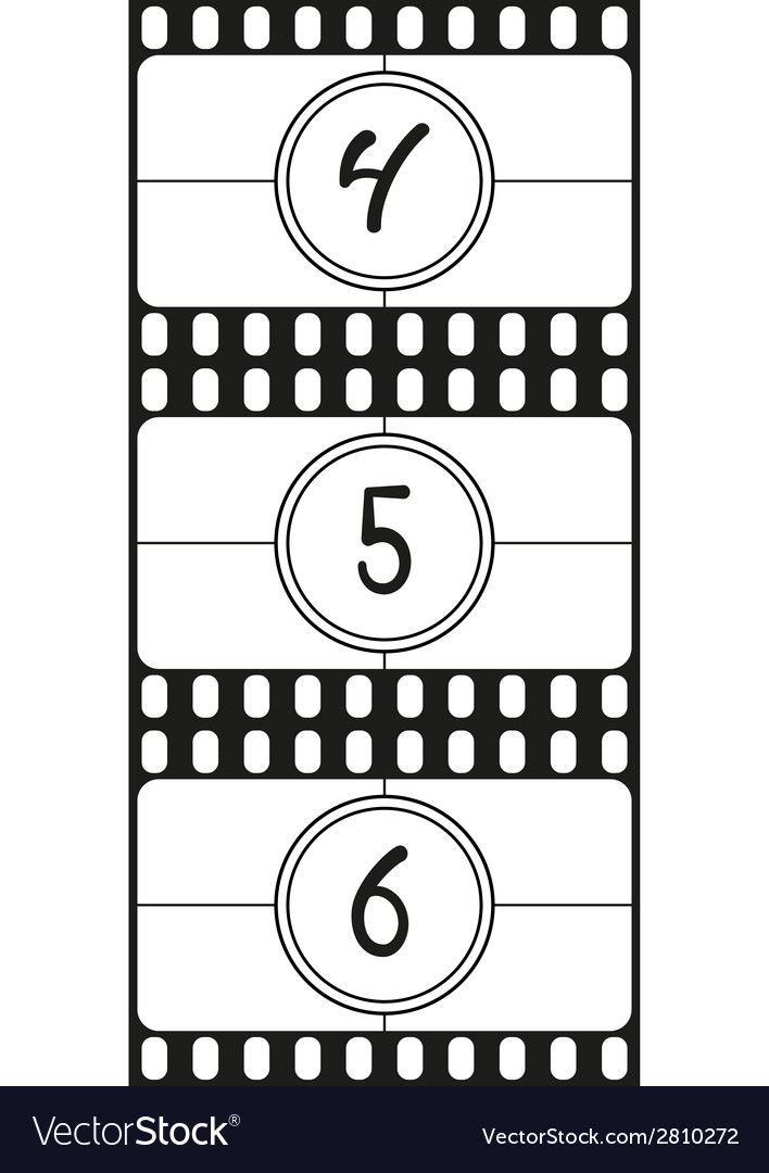 Film countdown numbers part 2 vector | Price: 1 Credit (USD $1)