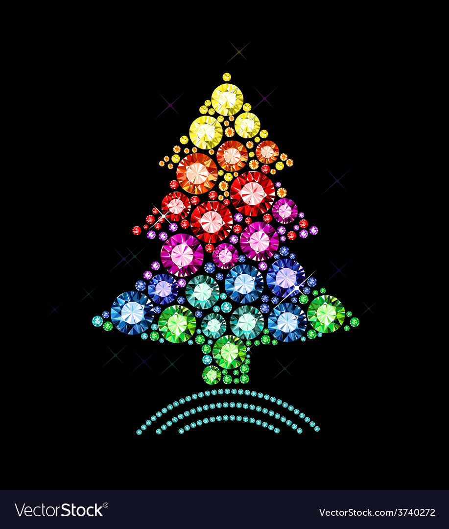 Gem christmas tree vector | Price: 1 Credit (USD $1)