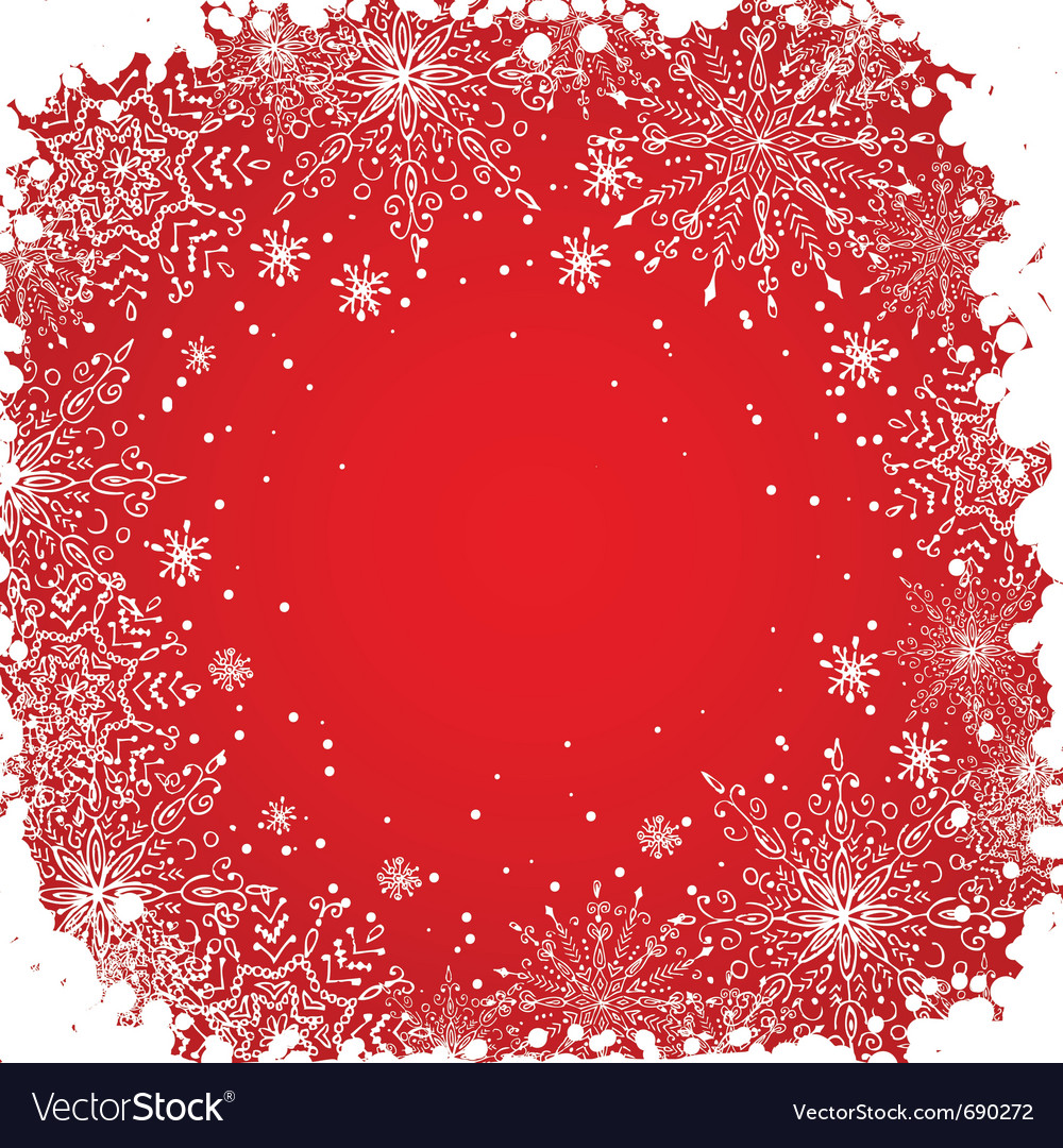 Grunge snowflakes background vector | Price: 1 Credit (USD $1)