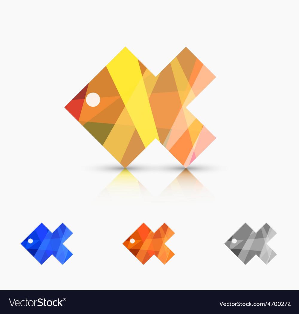 Modern abstract fish set vector | Price: 1 Credit (USD $1)