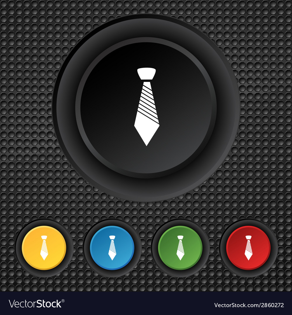 Tie sign icon business clothes symbol set vector | Price: 1 Credit (USD $1)