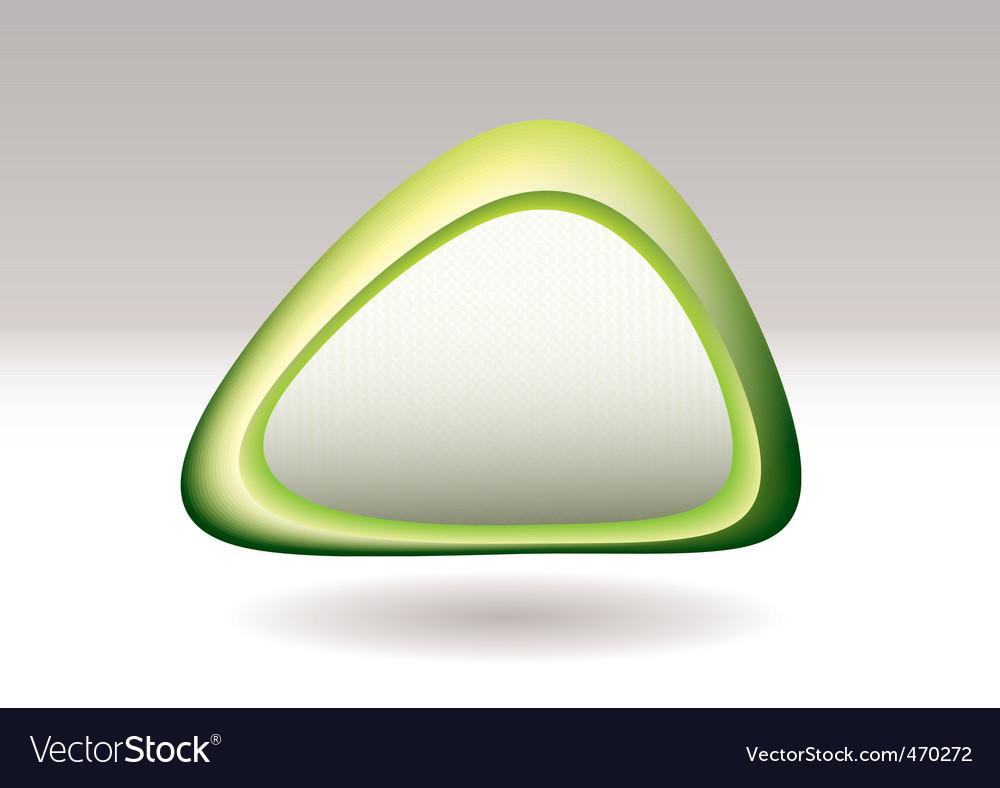 Triangle pebble green vector | Price: 1 Credit (USD $1)