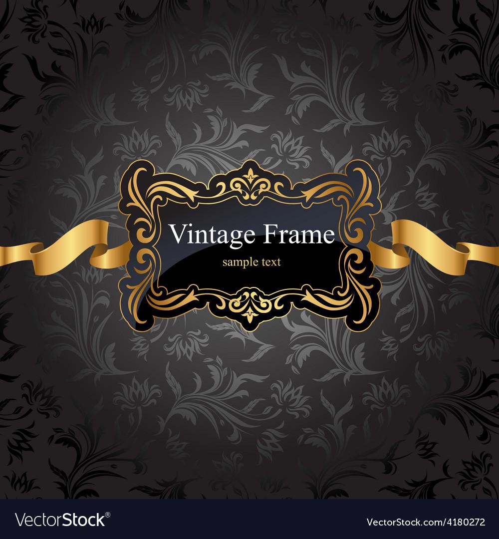 Vintage gold frame vector | Price: 3 Credit (USD $3)