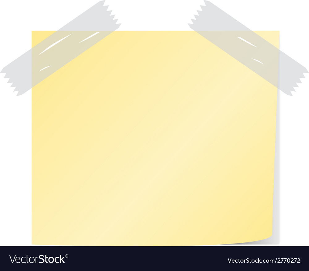 Yellow post it vector | Price: 1 Credit (USD $1)