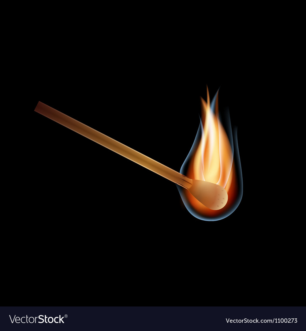 Burning match vector | Price: 1 Credit (USD $1)