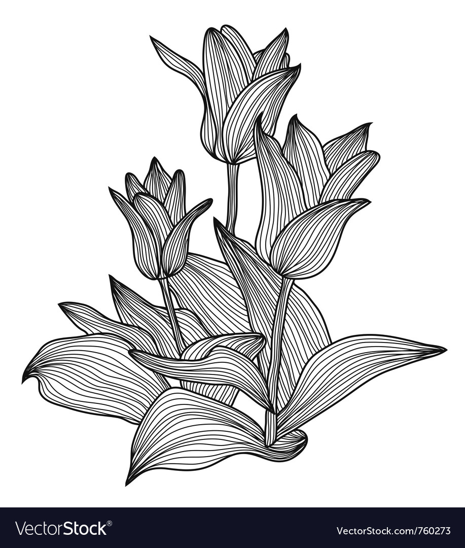 Decorative floral element vector | Price: 1 Credit (USD $1)
