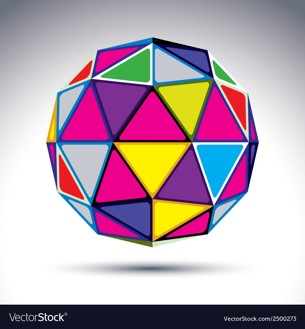 Dimensional modern abstract object 3d disco ball vector | Price: 1 Credit (USD $1)