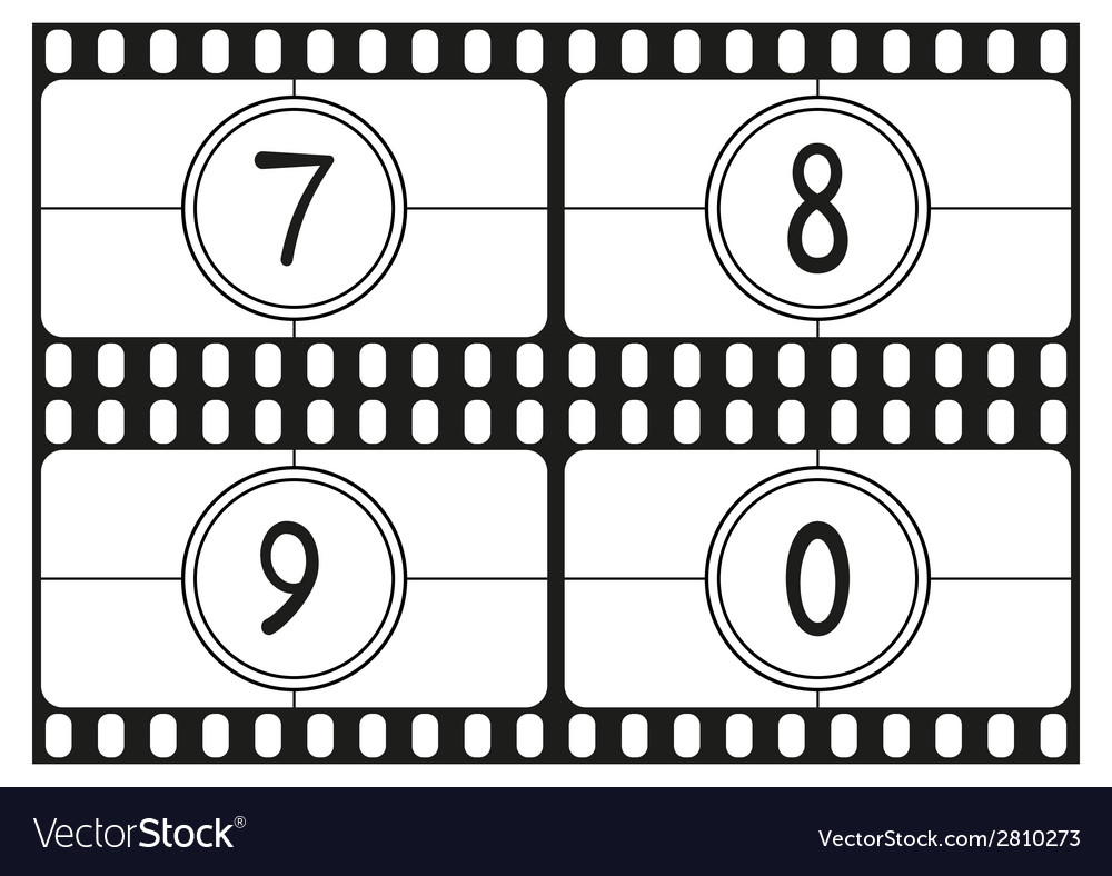 Film countdown numbers part 3 vector | Price: 1 Credit (USD $1)