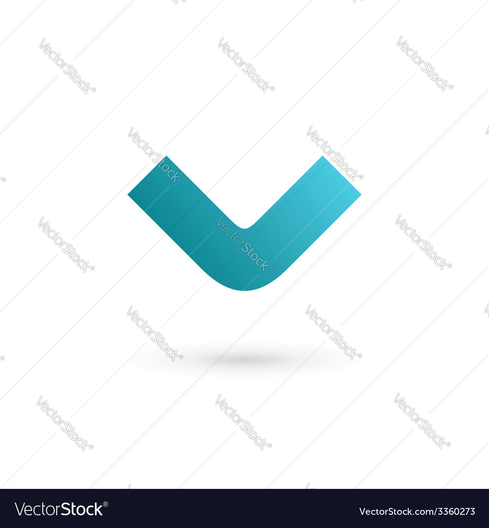 Letter v logo icon design template elements vector | Price: 1 Credit (USD $1)