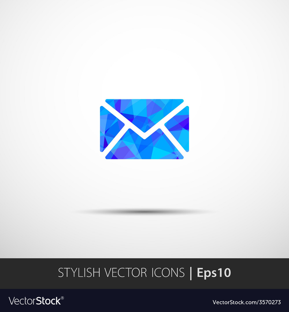 Modern yellow envelope icon vector | Price: 1 Credit (USD $1)