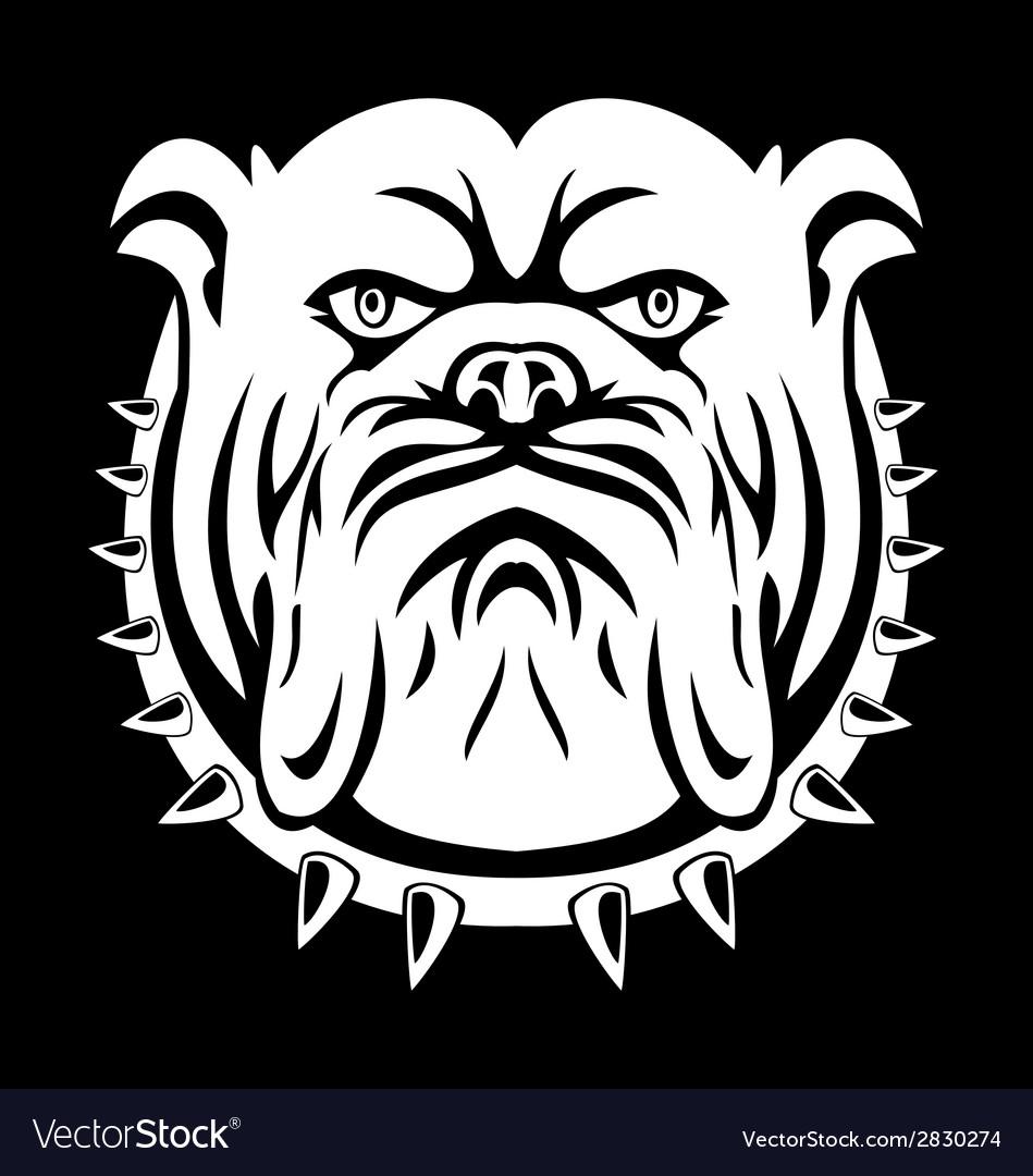 Bulldog face vector | Price: 1 Credit (USD $1)